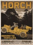 Vintage car advertisment poster - Horch